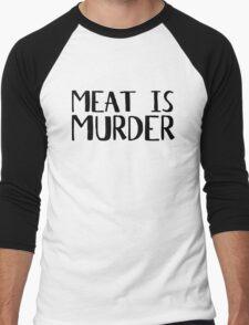 Vegetarian Meat Is Murder Vege Green  Men's Baseball ¾ T-Shirt