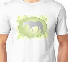 Silver Western Pleasure Horses on Green Brokeh  Unisex T-Shirt