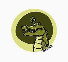 green crocodile emotion one arms up cartoon style Men's Baseball ¾ T-Shirt