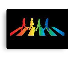 The Beatles Abbey Road Rainbow Canvas Print