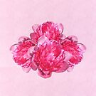 Peonies Pink watercolour by PhotosByHealy