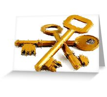 Line Impression: Keys to Success Greeting Card