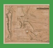 American Revolutionary War Era Maps 1750-1786 735 Plan of Amelia Island in East Florida north point of Amelia Island lyes in 30 55 north latitude 80 23 w Baby Tee