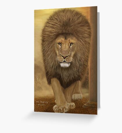 His Majesty - The Lion Greeting Card