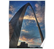 Sunset Under the Gateway Arch 001 Poster