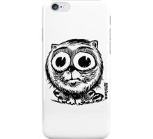 big eyes small black and white cat iPhone Case/Skin