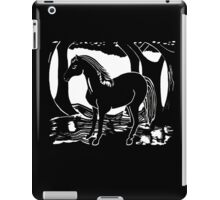 Black Horse Printmaking Art iPad Case/Skin