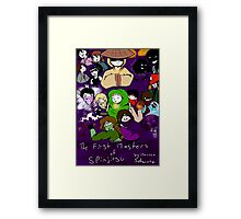 The First Masters of Spinjitsu Webcomic Cover Framed Print