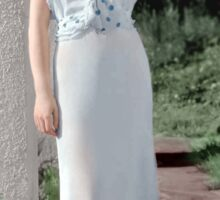 Colorized Myrna Loy Sticker