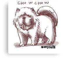 chowchow dog cartoon style illustrated Canvas Print