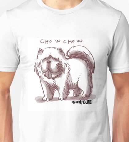 chowchow dog cartoon style illustrated Unisex T-Shirt