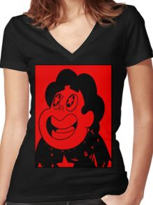 "El Steven ""Universe"" Guevara Women's Fitted V-Neck T-Shirt"