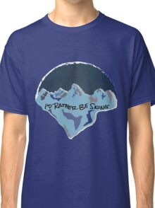 I'd Rather Be Skiing - Blue Classic T-Shirt
