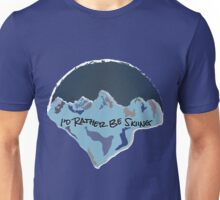 I'd Rather Be Skiing - Blue Unisex T-Shirt