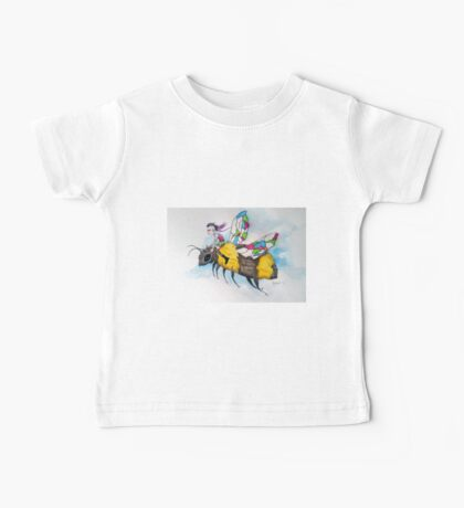 On Stained Glass Wings Baby Tee
