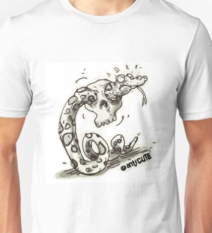 clumsy snake with skull Unisex T-Shirt