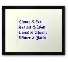 Lunar Chronicles Couples Framed Print