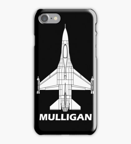 F-16 Fighting Falcon White With Name iPhone Case/Skin