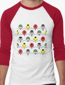 Cartoon Birdy Pattern Men's Baseball ¾ T-Shirt