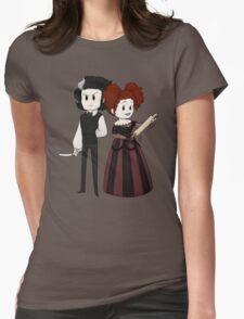 Sweeney Todd & Mrs. Lovett Womens Fitted T-Shirt