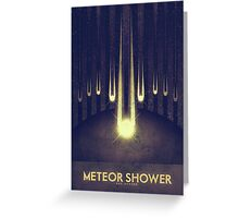 Sol System - Meteor Shower Greeting Card