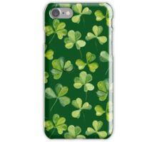 Clover. Green pattern iPhone Case/Skin