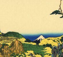 'Shimomeguro' by Katsushika Hokusai (Reproduction) Sticker