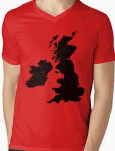 Werewolf map Mens V-Neck T-Shirt
