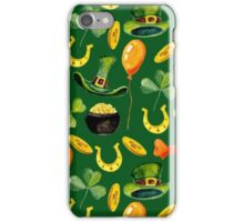 Patrick`s day green pattern. Watercolor iPhone Case/Skin
