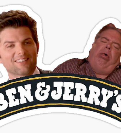 ben & jerrys parks and rec Sticker