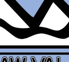 Squaw Valley California Skiing Mountain Art Sticker
