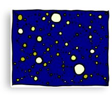 Mapping the Galaxy COLORIZED INDIGO GOLD Canvas Print