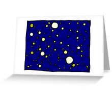 Mapping the Galaxy COLORIZED INDIGO GOLD Greeting Card