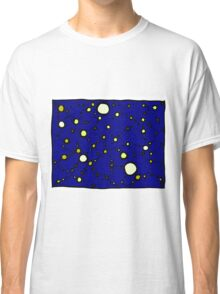 Mapping the Galaxy COLORIZED INDIGO GOLD Classic T-Shirt