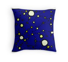 Mapping the Galaxy COLORIZED INDIGO GOLD Throw Pillow