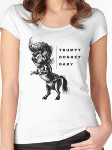 TrumpyDonkeyBaby Women's Fitted Scoop T-Shirt