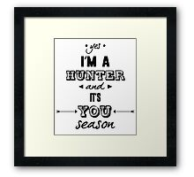 Parks and Recreation - It's You Season! Framed Print