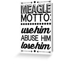 Parks and Recreation - Meagle Motto! Greeting Card
