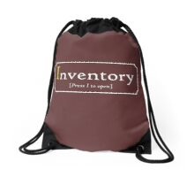 A true Inventory Drawstring Bag
