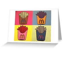 Andy Warhol Style French Fries Greeting Card