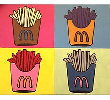 Andy Warhol Style French Fries Photographic Print