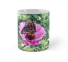 Monarch Butterfly Zinnia Mug