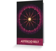 Sol System - The Asteroid Belt Greeting Card