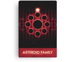 The Asteroid Belt - Asteroid Family Canvas Print