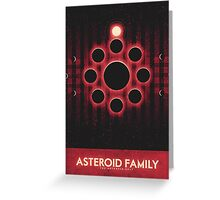 The Asteroid Belt - Asteroid Family Greeting Card