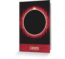 The Asteroid Belt - Ceres Greeting Card