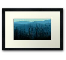 Trees - with wind turbines (2016) Framed Print