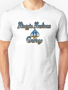 Kingpin Kustoms Garage chrome design Unisex T-Shirt