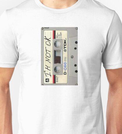 im not ok casette vertical Unisex T-Shirt
