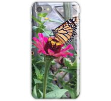 Monarch Butterfly Zinnia iPhone Case/Skin